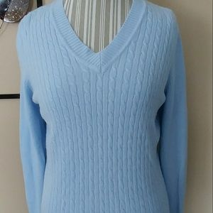 Sweaters - Soft Blue Acrylic Sweater